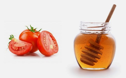 làm trắng da an toàn từ cà chua, mật ong