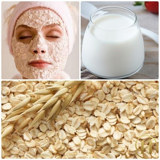 mặt nạ sữa chua và bột yến mạch