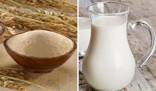 Cách làm trắng da bằng gạo lứt