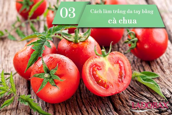 cách làm trắng da tay bằng cà chua